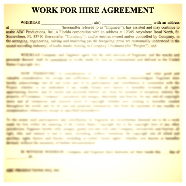 "Ask An Expert: ""Work-For-Hire"" Agreements"