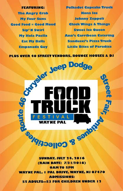 new jersey food truck events - wayne PAL food truck event