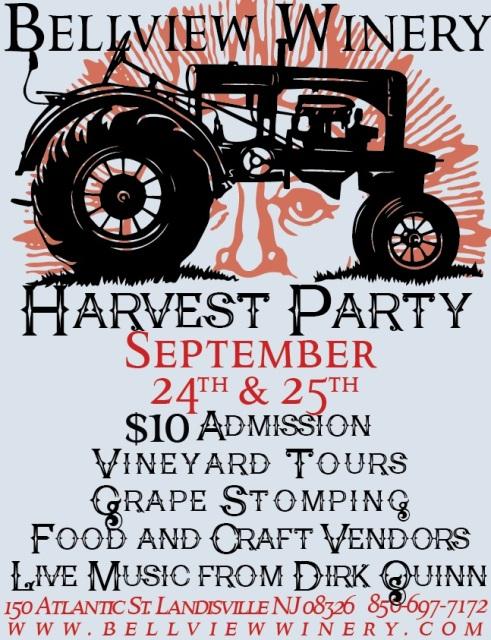 new jersey wine events - bellview harvest