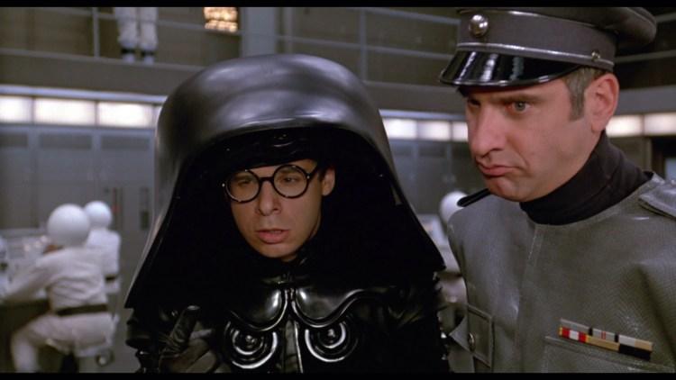 """Das """"Star Wars"""" meiner Jugend, obwohl ich all die Witze und Referenzen kaum verstehen konnte: """"Space Balls"""" von Mel Brooks mit Rick Moranis als Lord Helmchen (Screenshot)"""