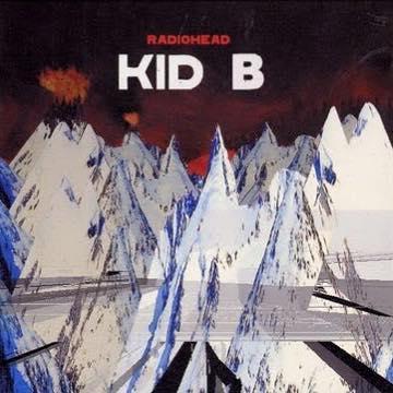 """Photoshop: So sähe """"Kid A"""" von Radiohead aus, hieße es """"Kid B""""."""