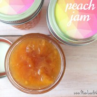 Peach slow cooker jam recipe