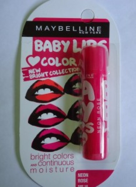 Maybelline Baby Lips Color Bright Collection Neon Rose Review, Swatches