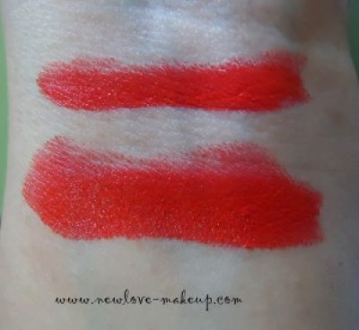 Oriflame More by Demi Lipstick Coral Red Review, Swatches