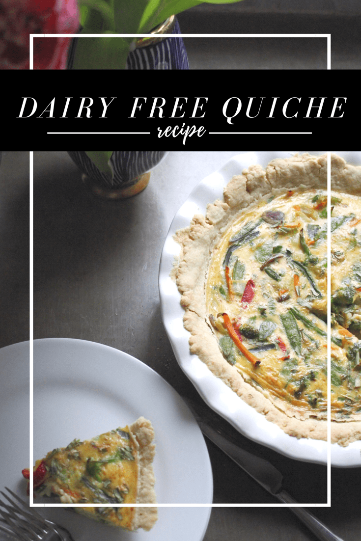 Dairy free quiche, dairy free recipe, brunch recipe