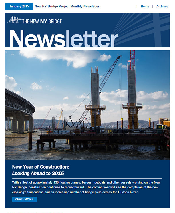 Monthly Newsletter | The New Ny Bridge Project