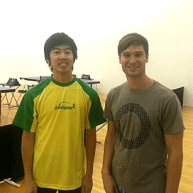 Ryan Louie and James Knoska in Newport Beach Table Tennis Club