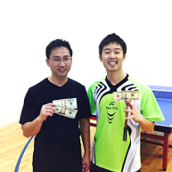 Kuei Chen and Ryan Louie after playing the table tennis in Newport Beach