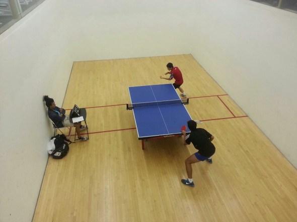 newport beach table tennis team during a match