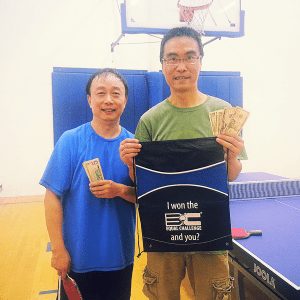 Tony Su and Tao Jiang after the Equal Challenge Tournament in Newport Beach
