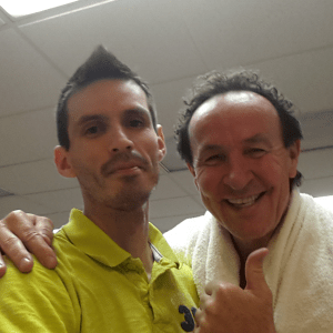 Ron Arellano and Roman Machutt after playing the Equal Challenge Tournament