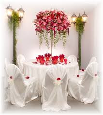 Bridal table arrangements