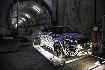 Le Range Rover Evoque Cabriolet prêt pour le test