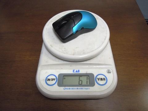 ワイヤレスレーザーマウスの重さ