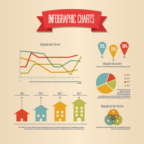 Retro Infographic Vector Graphic