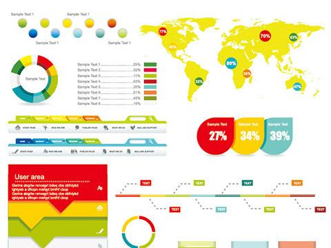 Economy Infographics design elements vector graphic 03