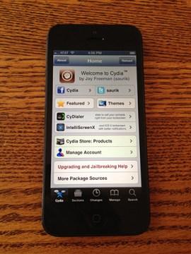 iPhone5脱獄成功