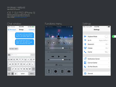 iOS 7 GUI PSD by ~Andreas-Hellqvist on deviantART