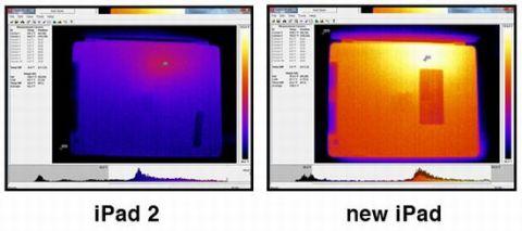 新しいiPadとiPad2の温度の違い