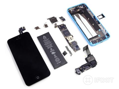 iPhone5c 分解完了