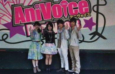 左起:藤東知夏、福原香織、岡本信彥、浪川大輔