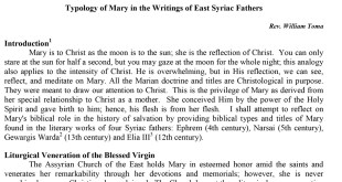 Typology of Mary in the Writings of East Syriac Fathers-1