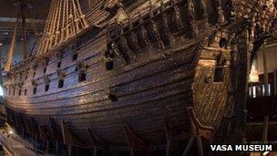 The Vasa ship in Stockholm