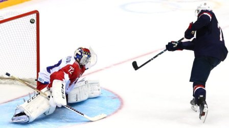 TJ Oshie scores in the shoot-out