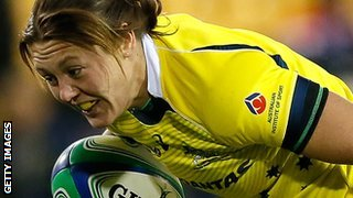 Sharni Williams in action for Australia