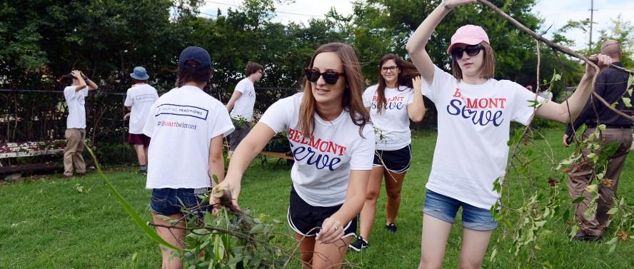 Belmont University's Day of Service, or SERVE,  in Nashville, Tenn. August 22, 2016