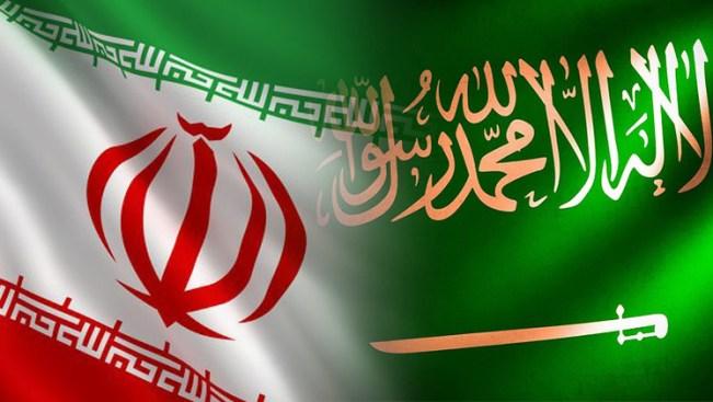 علم السعودية وايران