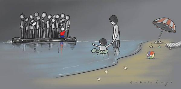 لا إنسانية الغرب تجاه اللاجئين