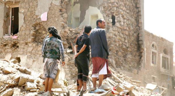 مشاهد الدمار في المدن اليمنية