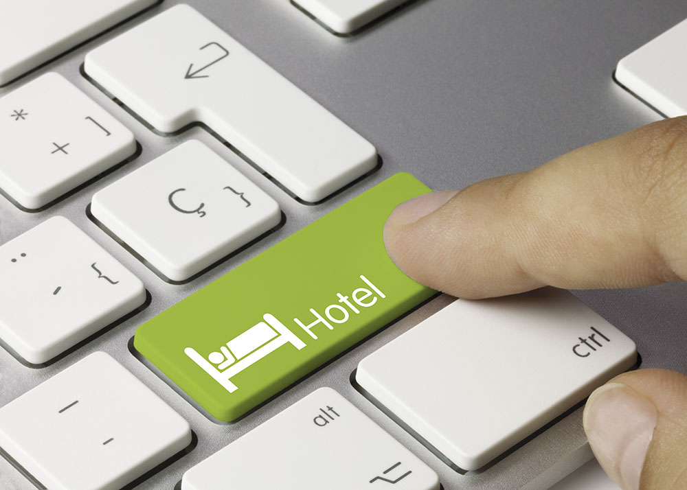 hotel keyboard key finger