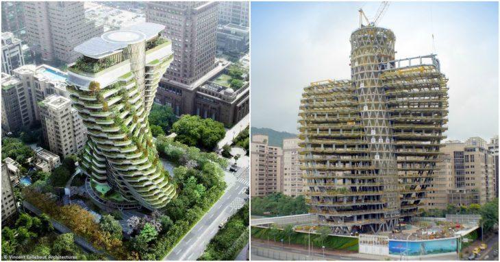 Экобашня в виде молекулы ДНК изменит архитектурный облик Тайбэя