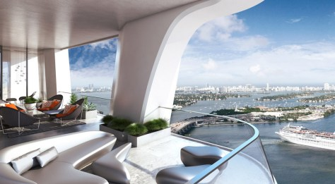 1000 Museum's Penthouse in Miami -Terrace