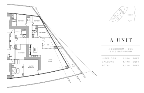 Residences by Armani Casa: Floor Plan A (Level 4)