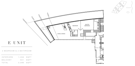 Residences by Armani Casa: Floor Plan E (Level 4)