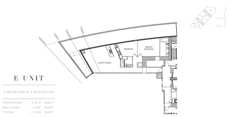Residence by Armani: Floor Plan E (Level 54)