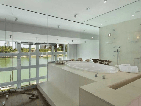 lil wayne's miami beach home bathroom