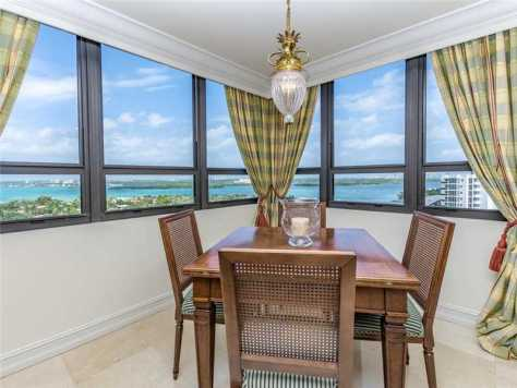 Bal Harbour condo dining with a view