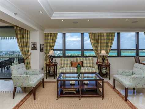 Living Room Bal Harbour condo Kenilworth unit 1602