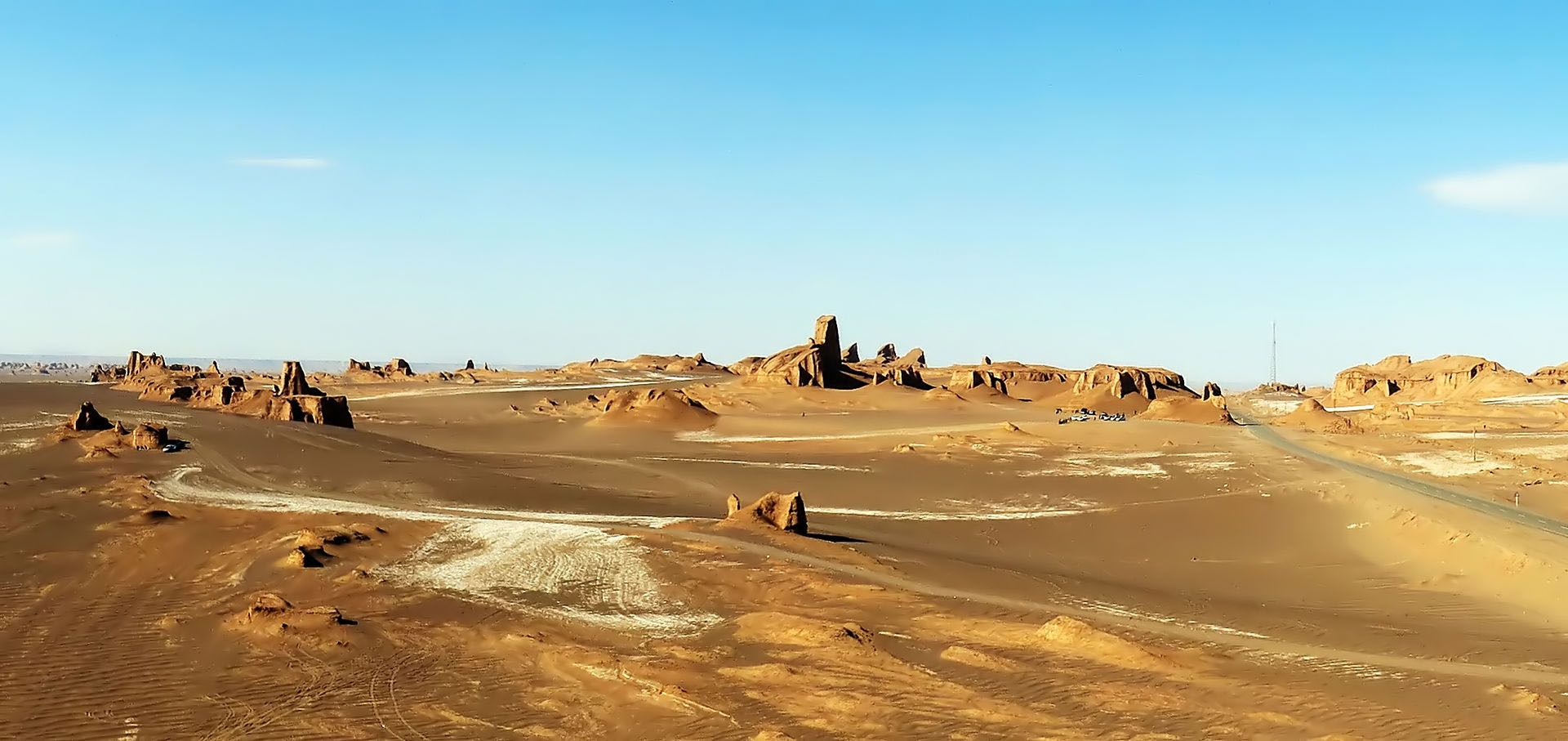 The Lut Desert is a large salt desert known for its unique and diverse collection of desert land forms. Photo by Hadi Karimi, CC BY-SA 3.0.