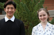 Shoreline students Lee-Ping Chin (left) and Sophie Morse (right) are members of the All-Washington Academic Team.
