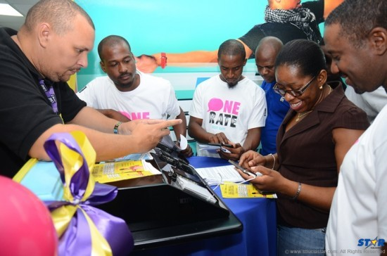 LIME St Lucia colleagues enjoying the 4G experience.