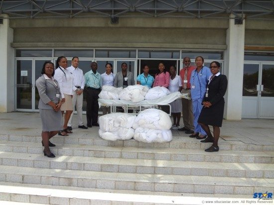 Coconut Bay staff with St Jude Hospital representatives.