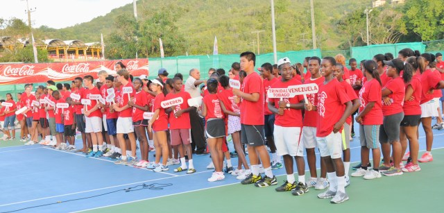Once again there was global representation at the ITF Junior Coca-Cola Tennis Tournament taking place at the National Tennis Center.