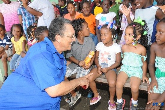 Prime Minister Dr Kenny Anthony was a big hit with participants at the popular Kidznet Summer Program.