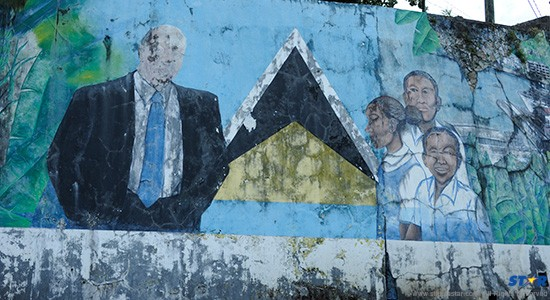 The Hospital Road mural by Alwyn St Omer: Is this an appropriate monument to the memory of the prime minister who took our country from Statehood to Independence?