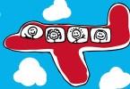 كارتون طائرة
